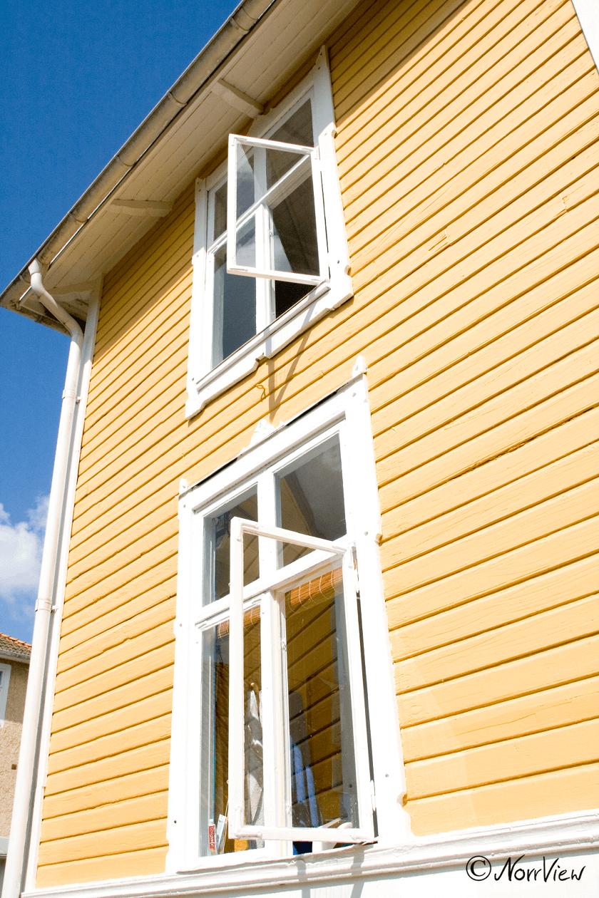 Haus mit Fenster im Glasreich in Schweden Smaland