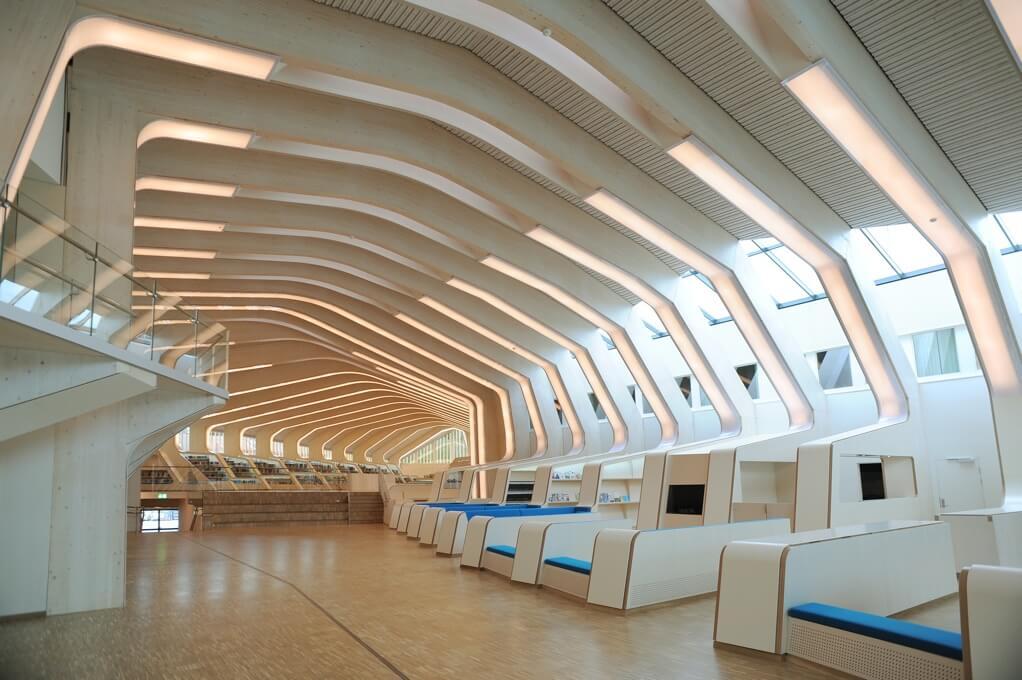 Die Bibliothek in Vennesla in Südnorwegen.